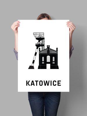 plakat moje miasto katowice, chorzów, tychy, gliwice, ruda śląska, bytom
