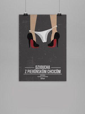 Plakat Dzioucha z pierońskom chcicom - Qdizajn