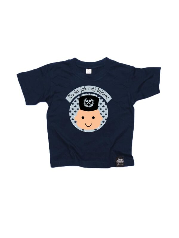 koszulki dziecięce bajtel byda jak mój łojciec śląskie koszulki qdizajn