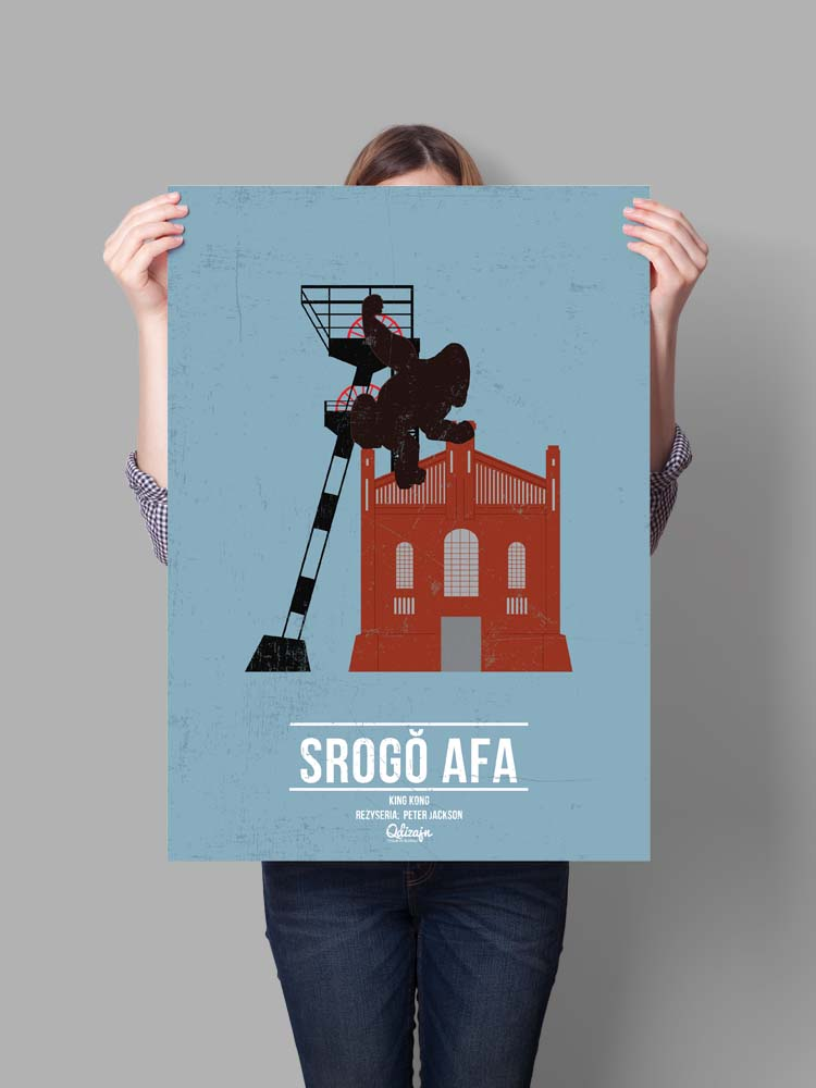 Plakat Srogo Afa