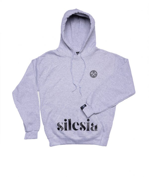 bluza z kapucom silesia czorny napis śląski sklep qdizajn