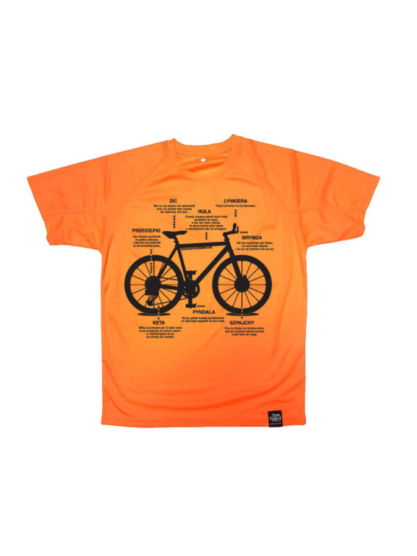 instrukcja jak ciś na kole, koszulka rowerowa